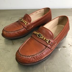 Cole Haan Tan Leather Slip On Loafer